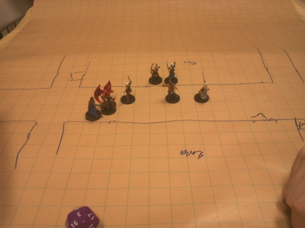 Encounter #1:  Ambush Alley w/ Evil Cleric & Gargoyle