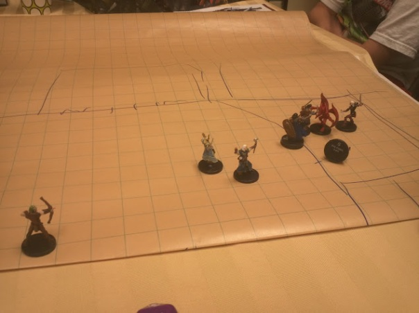 Encounter #2:  Downing Evil Cleric & Gargoyle